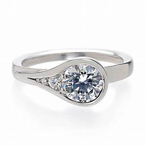 the bezel set engagement rings wedding ideas and wedding With bezel set wedding ring