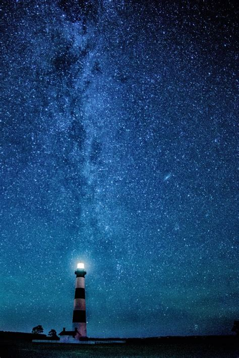 Under The Stars Bodie Lighthouse In 2019 Star Sky