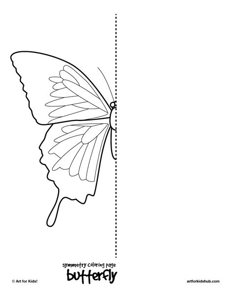 coloring pages bug symmetry art  kids hub