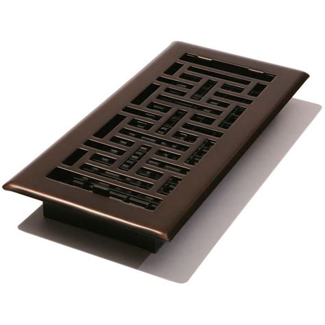4 X 10 Floor Register Cover by 4 In X 10 In Steel Floor Register Rubbed Bronze