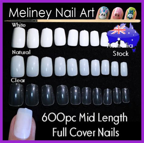 acrylic nails at home kit 100 600pc mid length cover square false