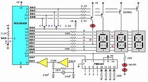 Digital Multiple Clock Timer With Pic16f628 Microcontroller