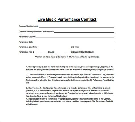 sample  contract template   documents
