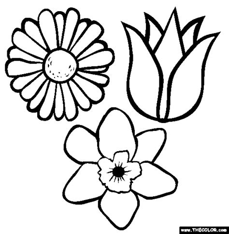 pictures of flowers to color coloring pages page 1