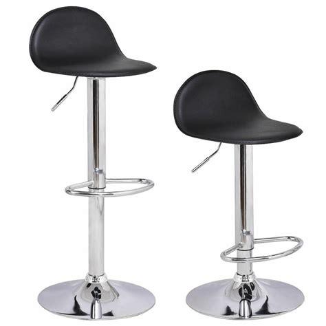 Bar Stools Adjustable Swivel - set of 2 swivel bar stools modern adjustable height diner