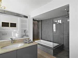 avantages d39une salle de bain en beton cire harmony beton With beton cire salle de bains