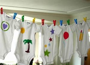 Decorate Onesies At A Baby Shower