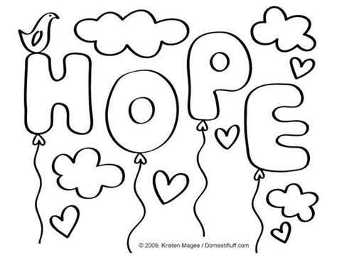 Autism Ribbon Coloring Page