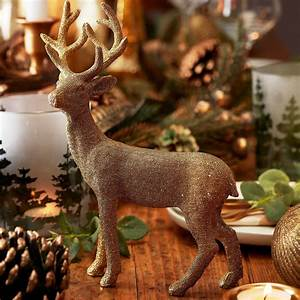 Gold, Reindeer, Standing, Christmas, Decoration, By, The, Christmas, Home