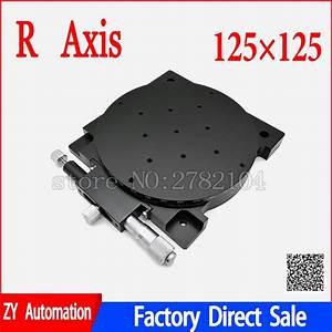 R Axis 125mm Manual 360 Degree Rotary Sliding Table