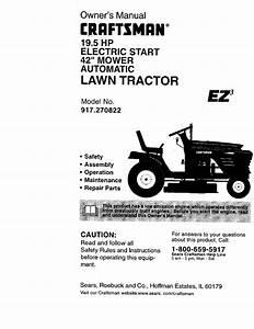Craftsman Lawn Mower 917 270822 User Guide