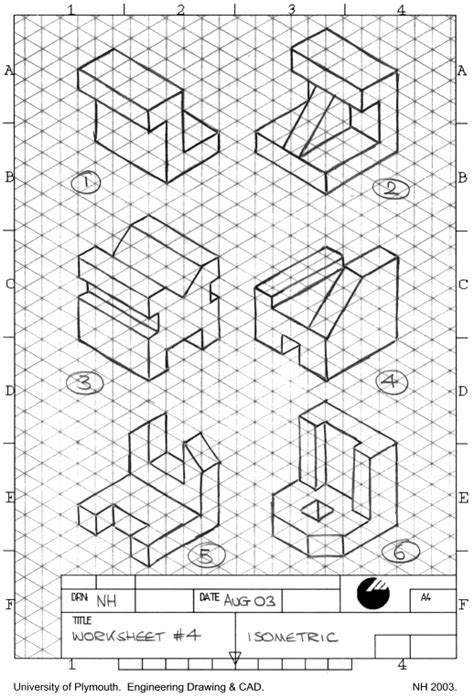 projection drawing worksheet title solutions cakepins