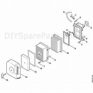 Stihl Ts 400 Disc Cutter  Ts400  Parts Diagram  H