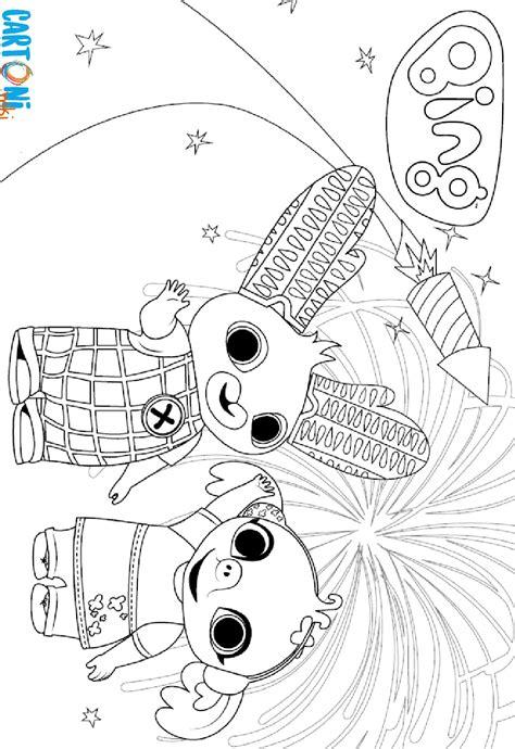 bing coniglio da colorare cartoni animati