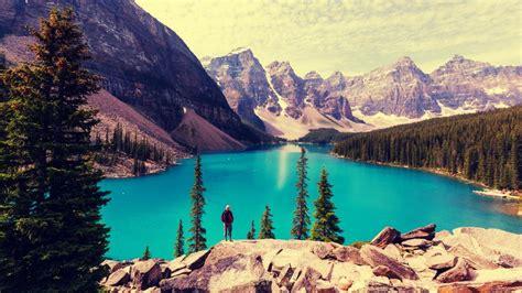 高山湖泊唯美风景,高清壁纸,风景图片-回车桌面