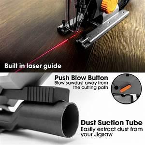 Terratek  U00ae 800w Electric Jigsaw  6 Speeds  Laser Guide