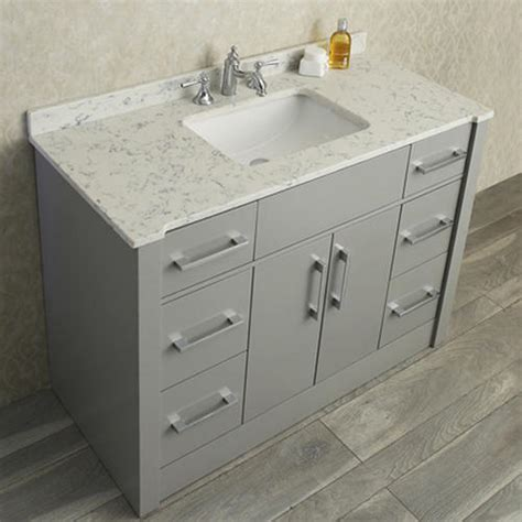 bathroom vanities and sinks at menards radcliff 48 quot single sink bathroom vanity set taupe grey