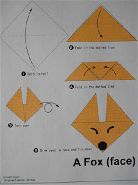mrs t s grade class fox in socks origami 746 | fox 009
