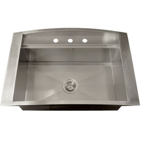 Overmount Kitchen Sink by Ticor Tr2000 Overmount 16 Stainless Steel Square