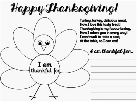 early play templates thankful thanksgiving templates