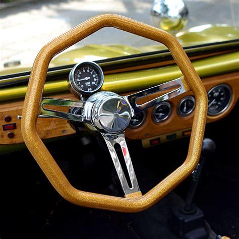mooneyes original california metal flake octagon steering