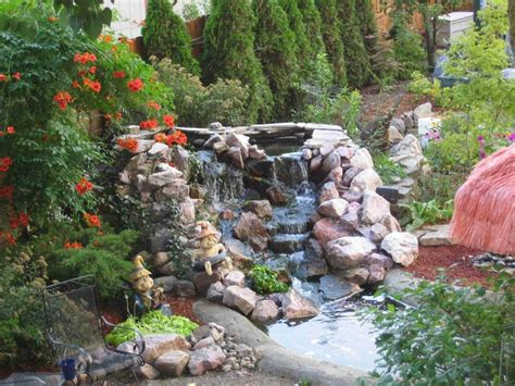 backyard waterfall pond diy fountains waterfall yard luxury pond 1024x768 inspiration and design ideas for dream house