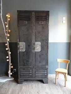 Armoire Industrielle Vintage : armoire industrielle chambre ~ Teatrodelosmanantiales.com Idées de Décoration