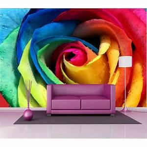 Deco Multicolore : stickers g ant d co fleur multicolore stickers autocollants ~ Nature-et-papiers.com Idées de Décoration