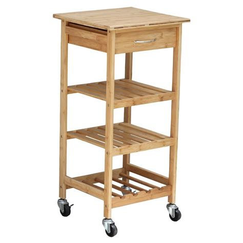 home depot kitchen islands oceanstar bamboo kitchen cart with wine rack bkc1378 the