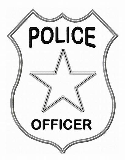 Police Badge Applique Officer Printables Designs Hover