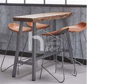 table haute cuisine bois table de bar en bois