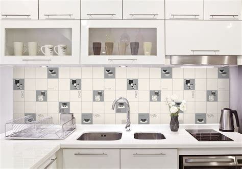 Kitchen Backsplash Pictures Ideas - fine decor fd13032 luxury kitchen tile effect vinyl wallpaper black white silver ebay