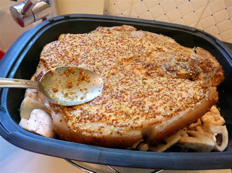 cuisine rouelle de porc rouelle de porc à la moutarde la recette facile par toqués 2 cuisine