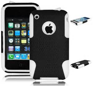 iphone 3s hybrid black mesh white silicone cover for