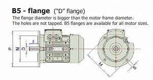 B5 Flange 2 2kw 3hp 2800pm 24shaft Mm Electric Motor