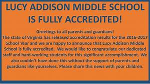Home - Lucy Addison Middle School