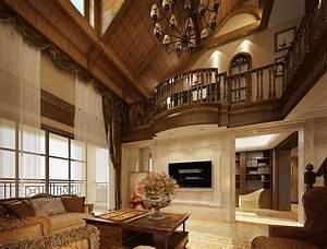Luxury villas wood ceiling design