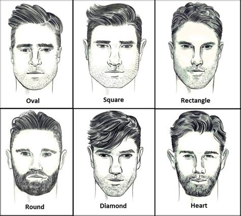ideas  short haircuts  men    face shape