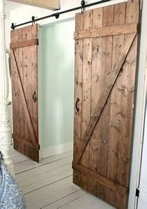 Porte Coulissante En Bois : fabriquer une double porte coulissante en bois ~ Melissatoandfro.com Idées de Décoration