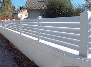 Cloture Pvc Sur Muret : portails et cl tures pvc gardecorps en aluminium ~ Melissatoandfro.com Idées de Décoration