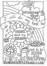 Promise Scout Coloring Rainbow Activities Sheet Colouring Scouts Brownies Rainbows Crafts Brownie Around Think Girlguiding Guides Daisy Camping Printable Thinking sketch template