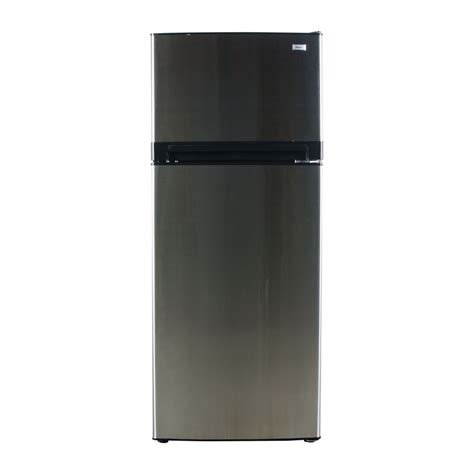 best refrigerator shop haier 10 1 cu ft top freezer refrigerator stainless steel at lowes com