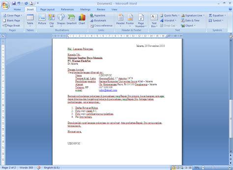 Map Surat Lamaran by 10 Contoh Surat Lamaran Kerja Via Email Ben