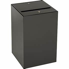 garbage can recycling steel indoor steel secure With secure document bins