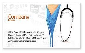 physician business card template layout