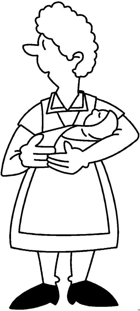 frau mit baby im arm ausmalbild malvorlage medizin
