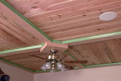 put   wood ceiling  tongue  groove