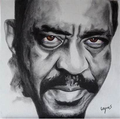 Pastel Attic Blues Ike Turner Charcoal Sketches