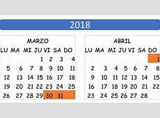 Feriado de Semana Santa 2018 feriadoseccom