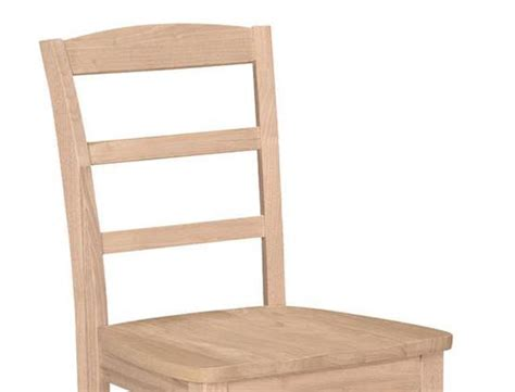 ladder back canvas collection unfinished chair ezekiel
